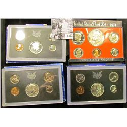 1362 . (3) 1969 S U.S. Silver Proof Sets & 1974 S U.S. Proof Set. Original as issued.