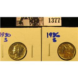 1377 . 1936-S And 1930-S Mercury Dimes