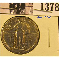 1378 . 1917-S Type 1 Standing Liberty Quarter