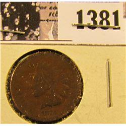 1381 . 1873 Semi Key Date Indian Penny