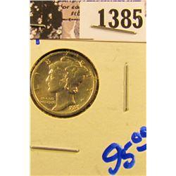 1385 . 1921 P Key Date Mercury Dime