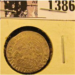 1386 . 1567 Lithuania Silver 2 Denari