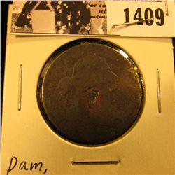 1409 . 1803 U.S. Large Cent, AG damaged.