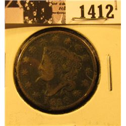 1412 . 1818 U.S. Large Cent, Good. Rim ding.