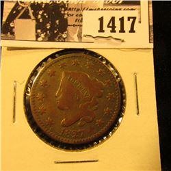 1417 . 1827 U.S. Large Cent, VG.