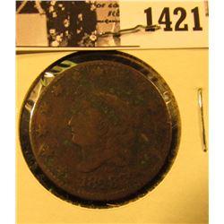 1421 . 1828 U.S. Large Cent, VG.