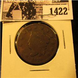 1422 . 1829 U.S. Large Cent, VG.