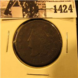 1424 . 1833 U.S. Large Cent, VG. Couple of rim ticks.