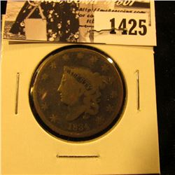 1425 . 1834 U.S. Large Cent, Good.