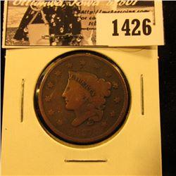 1426 . 1837 U.S. Large Cent, Good.