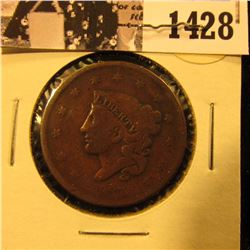 1428 . 1837 U.S. Large Cent, Very Good.