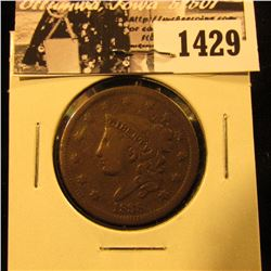 1429 . 1838 U.S. Large Cent, Very Good.