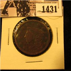1431 . 1838 U.S. Large Cent, Very Good.