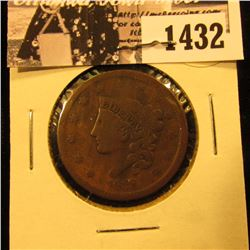 1432 . 1838 U.S. Large Cent, Very Good.
