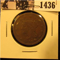 1436 . 1842 U.S. Large Cent, Very Good.