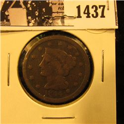 1437 . 1844 U.S. Large Cent, Very Good.