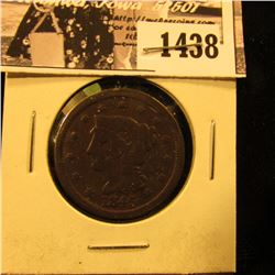 1438 . 1845 U.S. Large Cent, Very Good.