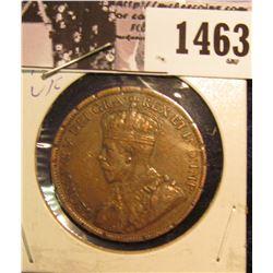 1463 . 1917 Canada Large Cent, VF. Reverse rim ticks.