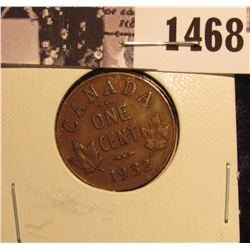 1468 . 1932 Canada Small Cent, VF.