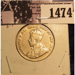 1474 . 1929 Canada Nickel EF.