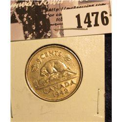 1476 . 1942 Canada Nickel EF-AU.