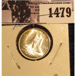 1479 . 1968 Canada Silver Dime, Gem BU.