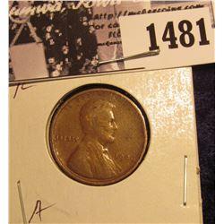 1481 . 1909 P Lincoln Cent, Fine.