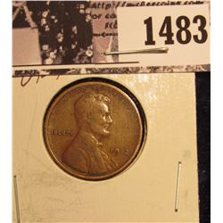 1483 . 1912 P Lincoln Cent, VF+.