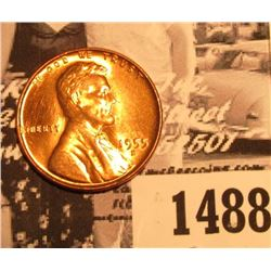 1488 . 1955 D Lincoln Cent, Red Gem BU.