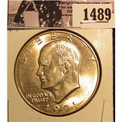 1489 . 1971 D Eisenhower Dollar, Brilliant Uncirculated.