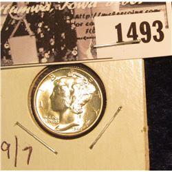 1493 . 1944 P Mercury Silver Dime, Flashy Gem BU.