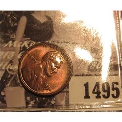 1495 . 1934 D Lincoln Cent, Red-brown MS 63.