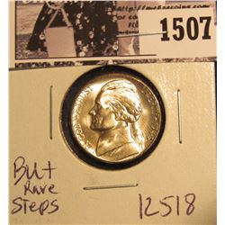 1507 . 1943 S Jefferson Nickel, Brilliant Uncirculated with steps.