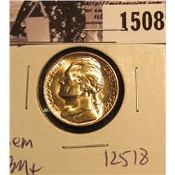 1508 . 1944 D Jefferson Nickel, Brilliant Uncirculated with 5 steps.