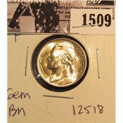 1509 . 1945 P Jefferson Nickel, Brilliant Uncirculated.