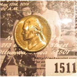 1511 . 1949 D Jefferson Nickel. Gem BU, lightly toned.