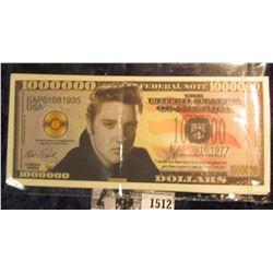 1512 . Pair of Elvis Presley Fantasy $1,000,000 notes.