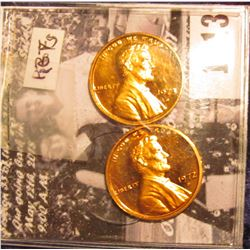 1513 . 1972 S & 1973 S Gem Cameo Proof Lincoln Cents.