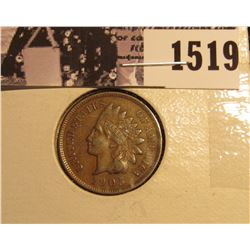 1519 . 1905 Indian Head Cent, Full Liberty EF.