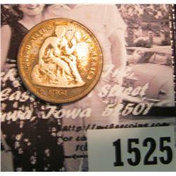 1525 . 1861 P U.S. Civil War Seated Liberty Dime, Good.