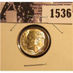 1536 . 1951 P Roosevelt Dime with Superb Natural Toning. BU.