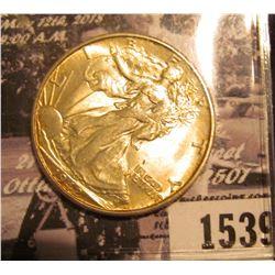 1539 . 1942 D Walking Liberty Half Dollar, Original toned BU.