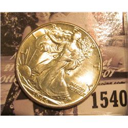 1540 . 1944 P Walking Liberty Half Dollar, Brilliant Uncirculated.