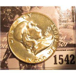 1542 . 1955 P Franklin Half Dollar, Brilliant Uncirculated.