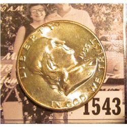 1543 . 1955 P Franklin Half Dollar, Brilliant Uncirculated.
