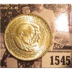 1545 . 1952 P Washington/Carver Commemorative Silver Half-Dollar, Brilliant Uncirculated.