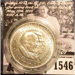 1546 . 1953 D Washington/Carver Commemorative Silver Half-Dollar, Brilliant Uncirculated.