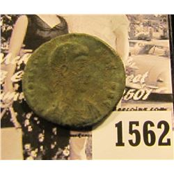 1562 . Emperor Constantius II,Roman Emperor from 337 to 361 AD. Copper follis. Reverse depicts soldi
