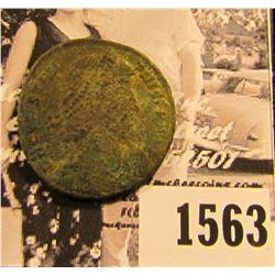 1563 . Emperor Constantius II,Roman Emperor from 337 to 361 AD. Copper follis. Reverse depicts soldi