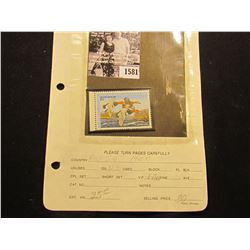 1581 . 1987 RW54 U.S. Department of the Interior Federal Migratory Waterfowl Stamp. Unused, not sign